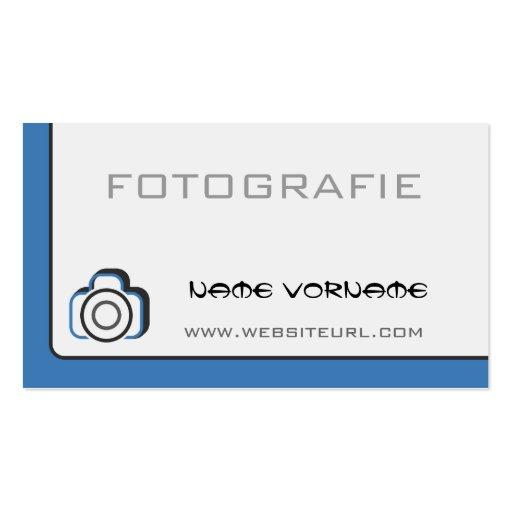 photo camera business card templates