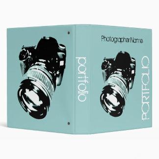 Photo camera - retro styled photographer portfolio binders