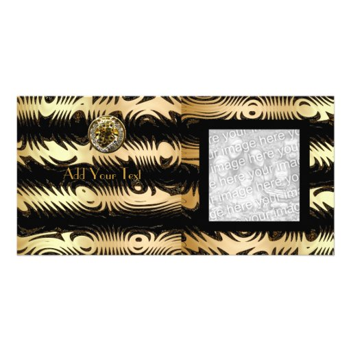 Photo Card Black Gold Africa Abstract