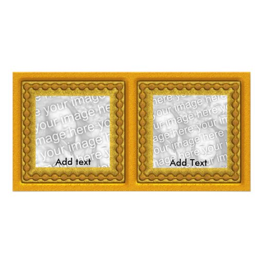 Photo Card Gold Double frame