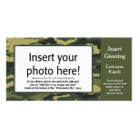 Photo Card - Green Camo (Holiday, Family, Other)