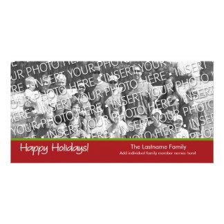 Photo Card Happy Holidays with 1 large photo