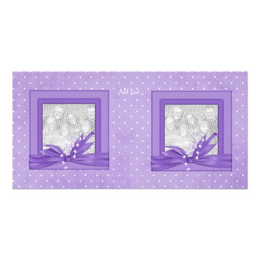 Photo Card Lilac Spot add your photo