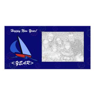 Photo Card - New Year Sailboat