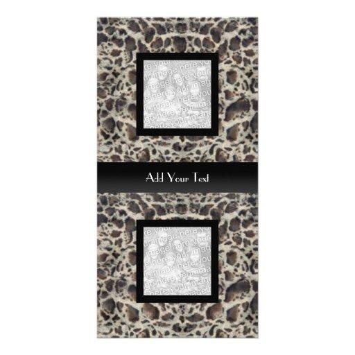 Photo Card Ocelot Animal Look Elegant Black