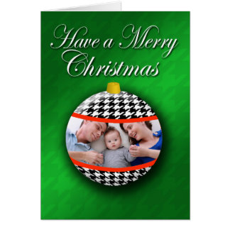 Photo Card Ornament houndstooth