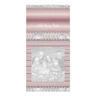 Photo Card Pink Lace