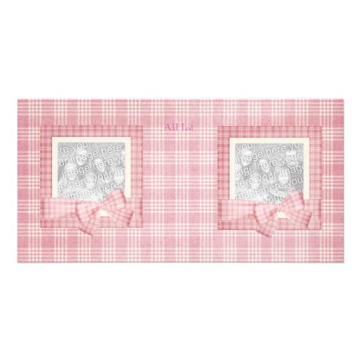 Photo Card Pink Plaid add your photo