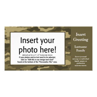 Photo Card - Tan Camo (Holiday, Family, Other)