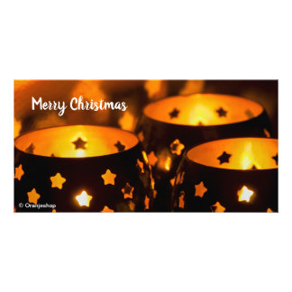 Photo Card with Christmas Candlelights