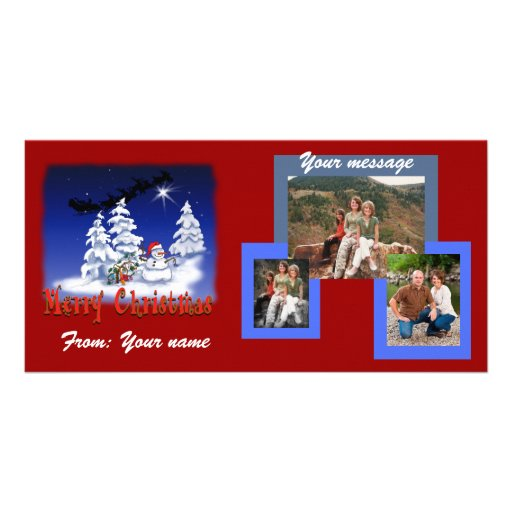 Photo cards for christmas customizable