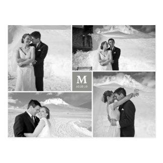 Photo carrée centrale de Merci de mariage de monog
