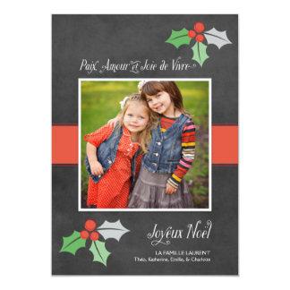 Photo Cartes de Noël   Paix Amour et Joie Card