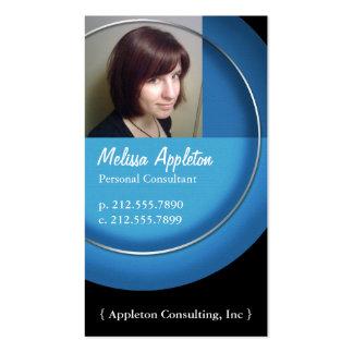Photo - cartes de visite bleus de professionnel de cartes de visite professionnelles