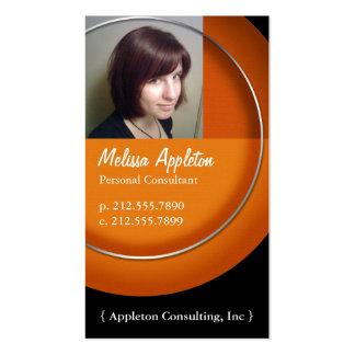 Photo - cartes de visite oranges de professionnel  modèles de cartes de visite