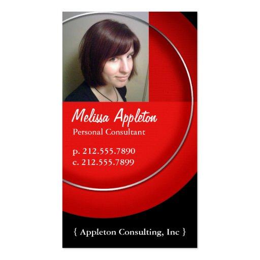 Photo - cartes de visite rouges de professionnel d carte de visite