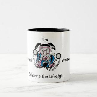 Photo Chick Diver Two-Tone Coffee Mug