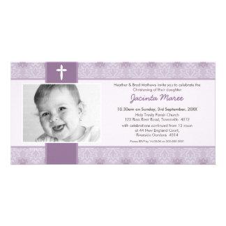 PHOTO CHRISTENING INVITATIONS :: pretty 5L Personalized Photo Card