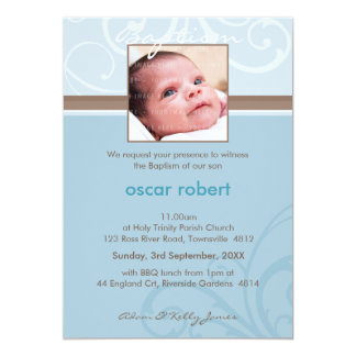 "PHOTO CHRISTENING INVITES :: charity 6P 5"" X 7"" Invitation Card"