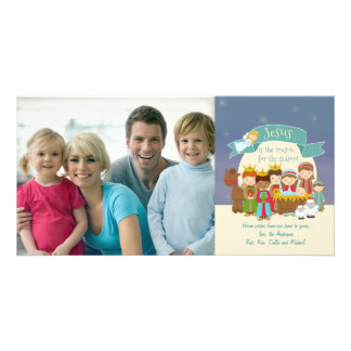 Photo Christmas Card - Nativity Scene