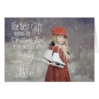 Photo Christmas Card with Snow Overlay