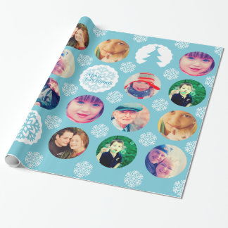 Photo Christmas Red Gift Wrapper Wrapping Paper