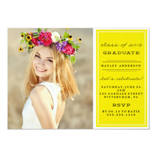 PHOTO CLASS OF 2016 GRADUATION Invitation