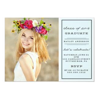 PHOTO CLASS OF 2016 GRADUATION Invitation