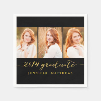 Photo Collage 2014 Graduation Party Paper Napkin