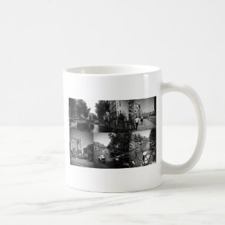 Photo collage Amsterdam 1 in black and white Coffee Mug