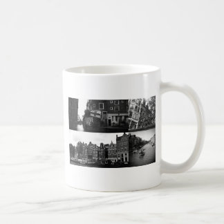 Photo collage Amsterdam 3 in black and white Coffee Mug