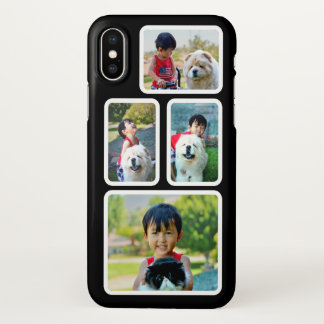 Photo Collage Black and White Frames Custom iPhone X Case