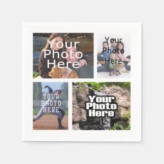 Photo Collage Custom Digital Picture Paper Napkins