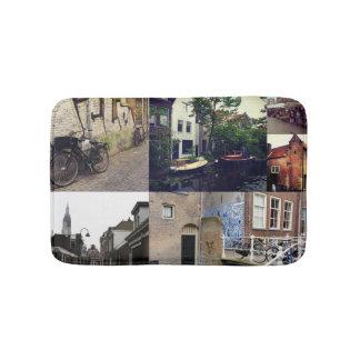 Photo collage Delft 2 Bath Mat