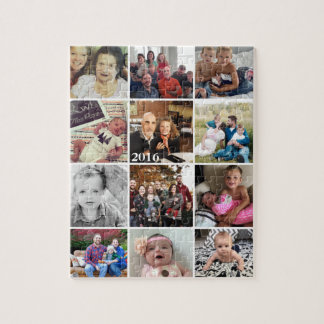 Photo Collage Family Photos Jigsaw Puzzle