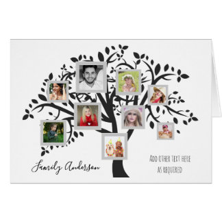 Photo Collage Family Tree Template Personalized