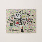 Photo Collage Family Tree Template Personalized Jigsaw Puzzle