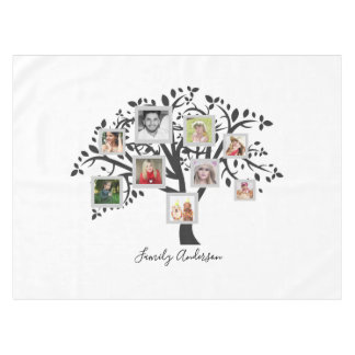 Photo Collage Family Tree Template Personalized Tablecloth