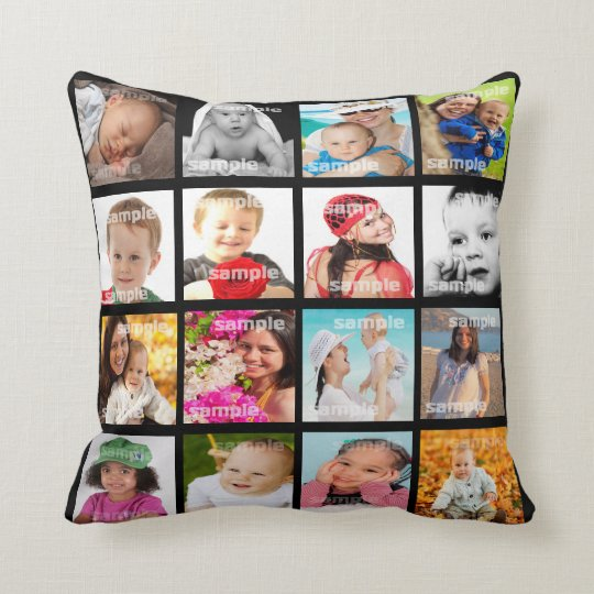Photo Collage Make Your Own DIY Pillow V3