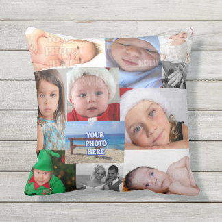 Photo Collage Make Your Own Personalized Throw Pillow
