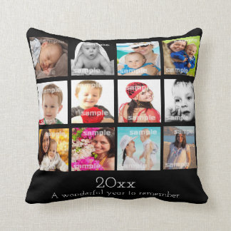 Photo Collage Make Your Own Year To Remember Throw Pillow