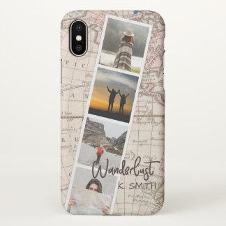 Photo Collage of Travel Memories. Wanderlust. iPhone X Case