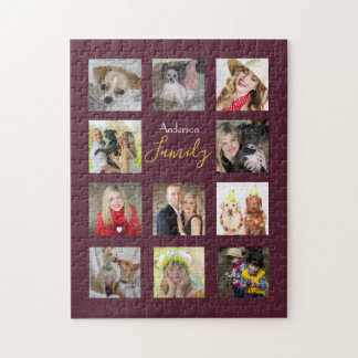 Photo Collage PUZZLE gift Personalized 252 pieces