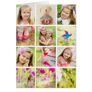 Photo Collage Template Personalized Card