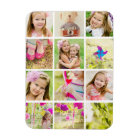 Photo Collage Template Personalized Magnet