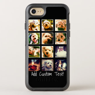 Photo Collage with Black Background OtterBox Symmetry iPhone 8/7 Case