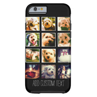Photo Collage with Black Background Tough iPhone 6 Case