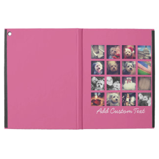 Photo Collage with Hot Pink Background - 16 pics
