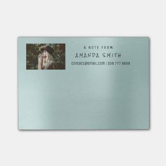 Photo Corporate Name Message Tiffany Aqua Blue Post-it Notes