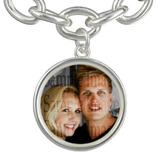 Photo couples anniversary engagement PERSONALIZE Bracelet